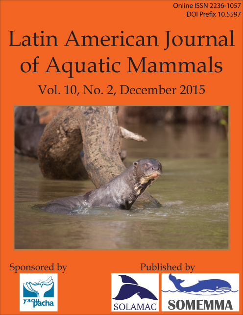 View Vol. 10 No. 2 (2015): Special Issue on Giant River Otter Pteronura brasiliensis